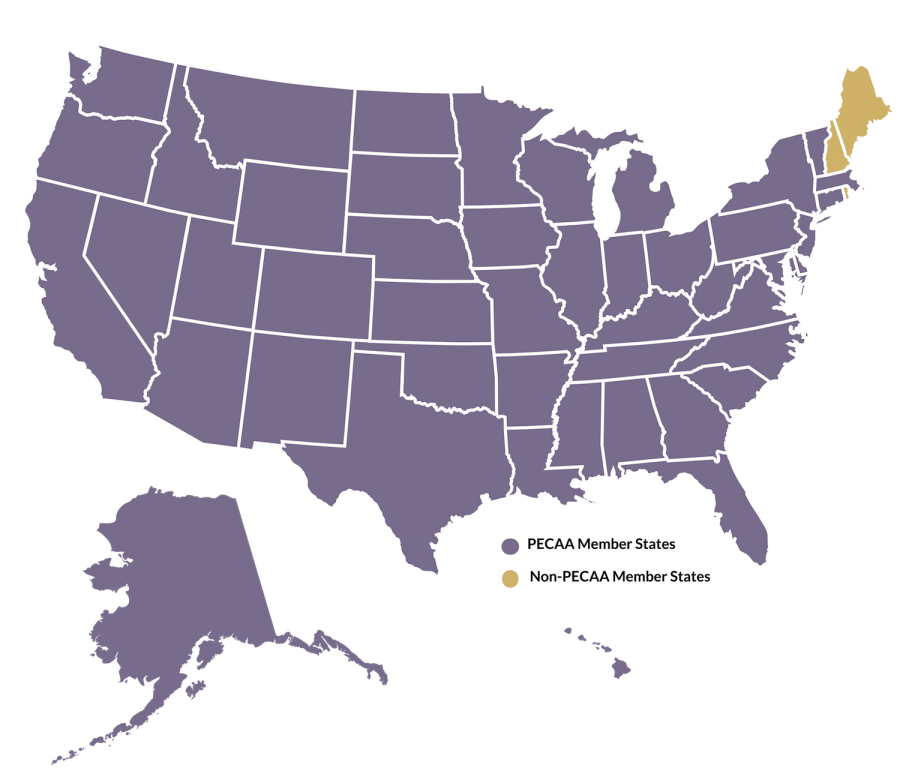 Map of United States - PECAA Members-01