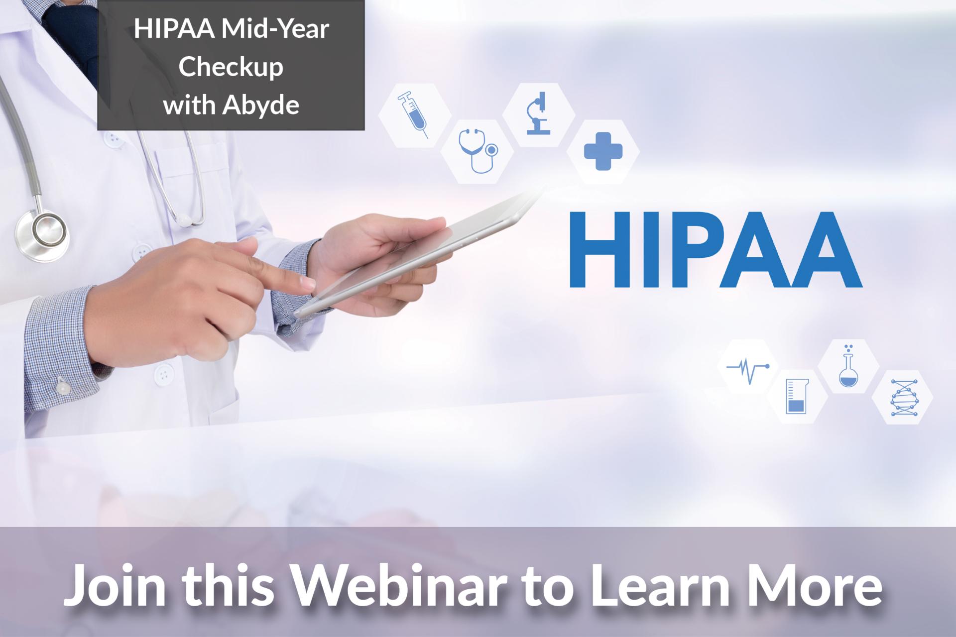 Webinar Image - HIPAA Mid-Year Checkup with Abyde